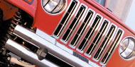 Rampage Chrome Grille Inserts <br/>for 87-95 Jeep YJ