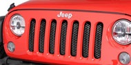 Rampage 3D Mesh Grille Inserts <br/>for 07-15 Jeep JK & Unlimited