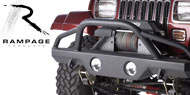 Rampage Heavy Duty Front Bumper with Stinger for 1976-2006 Wrangler TJ, Unlimited TJL, YJ & CJ