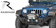 Rampage Recovery Bumper with Stinger & Light Cut Outs for 2007-2015 Wrangler JK & Unltd JK