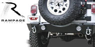 Rampage Rear Recovery Bumper with Light Cut Outs for 2007-2015 Wrangler JK & Unlimited JK