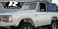 Rampage Complete Soft Top <br> 66-77 Ford Bronco <br> Tinted Windows