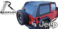 Rampage Trail Soft Top Kit Frameless <br>97-06 Jeep TJ
