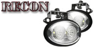 Recon LED Elliptical Oval Driving Light Kit