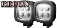 Recon LED Square Driving Light Kit