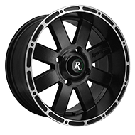 Remington ATV Wheels<br /> 8-Point All Satin Black with Machined Lip Edge Finish