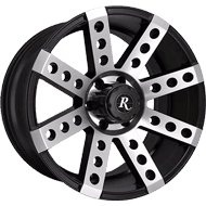 Remington Buckshot Satin Black with Machined Face Finish Wheels