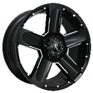 Remington Wheels<br /> High Country Satin Black with Milled Finish