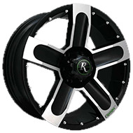 Remington Wheels<br /> High Country Satin Black with Machined Face Finish