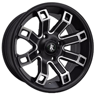 Remington ATV Wheels<br /> Hollow Point in Satin Black with Machined Face Finish