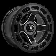 Remington ATV Wheels<br /> Patriot All Satin Black with Milled Windows