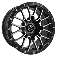 Remington ATV Wheels<br /> RTC All Satin Black with Machined Face Finish