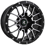Remington Wheels<br /> RTC All Satin Black with Machined Face Finish