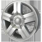Wheel Replicas <br/>Silverado <br/>Silver Machined Face