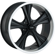 Ridler 651 Matte Black with Machined Lip Wheels