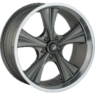 Ridler 651 Grey with Machined Lip Wheels