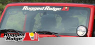 Rugged Ridge Jeep <br>Decal Windshield Banner