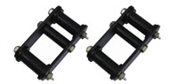 Rugged Ridge HD Front Greasable Leaf Spring Shackles with Bushing <br>for 87-95 Jeep YJ
