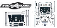 Rubicon Express <br>LJ Extreme-Duty Long Arm Lift Kits