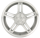 Sacchi Wheels <br/> S12 212 Hypersilver with Machined Lip