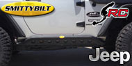 Smittybilt SRC Rocker Guards with Plate<br/> for  07-17 Jeep JK