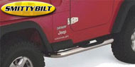 Smittybilt Stainless Steel Sure Step Side Bars <br/>for 04-06 Jeep TJ Unlimited