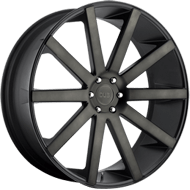 DUB Wheels Shot Calla S121 <br /> Black and Machined w/ Dark Tint