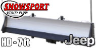 Jeep - Access Snowsport HD Snow Plow - 7' Blade
