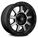 Remington Target All Satin Black with Machined Face Finish Wheels