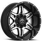 TIS Wheels<br /> 538MB Gloss Black with Mirror Machine