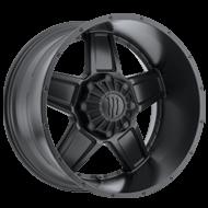 TIS 543B Satin Black Wheels
