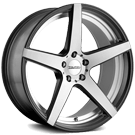 Touren Wheels<br/> TR20 Matte Black with Machined Face and Undercut