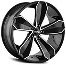 Touren Wheels<br /> TR71 Gloss Black with Machined Face