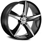 Touren Wheels<br /> TR72 Gloss Black with Machined Face