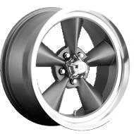 US Mags U102 Standard Gunmetal Diamond Cut Lip Wheels