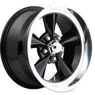 US Mags U107 Standard Gloss Black Diamond Cut Lip Wheels
