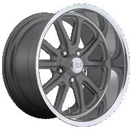 US Mags U111 Rambler Gunmetal Matte Diamond Cut Lip Wheels