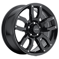 Ultra Wheels<br /> 251 Decoy Gloss Black w/ Spot Mill Dimples