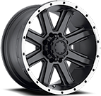 Ultra Wheels<br /> 195 Crusher Gloss Satin Black
