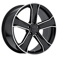 Ultra Wheels<br /> 423 Knight Gloss Black w/ Diamond Cut Accents