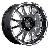 Ultra Wheels<br /> 100 Xtreme Gloss Black with Millings