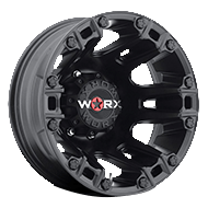 WORX Wheels Dually Beast 803 Rear <br/>Satin Black