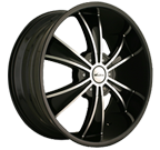 Veloche Wheels<br /> Vector 925 Black Machined
