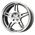 Voxx Wheels <BR>MG3 Silver Mirror Lip