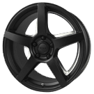 Voxx Wheels <BR>MGA Matte Black