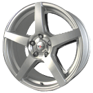 Voxx Wheels <BR>MGA Silver Mirror Machined Face