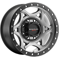 Walker Evans Racing Wheels 501GN Legend Satin Graphite and Satin Black X-Lok Lip