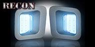 Recon Ultra High Power 2-Watt White LED License Plate Illuminators with built-in 2-Watt Red LED rear-facing running lights