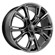 Wheel Replicas <br/> Jeep SRT-8  <br/> PVD Dark Chrome