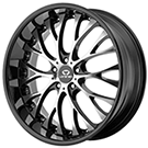 Lorenzo Wheels<br />  WL27 Gloss Black w/ Machined Face